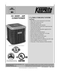 10+ SEER - AIR CONDITIONER