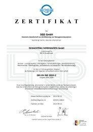 DIN EN ISO 3834-2 - SCHACHTBAU NORDHAUSEN GmbH