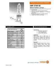 HMP 575W SE Metal Halide Lamps - Special industrial lighting