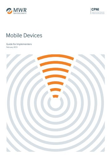 Mobile devices - guide for implementers - CPNI