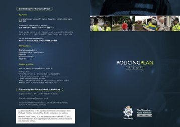 Policing Plan 2011-2014 - Northumbria Police