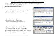 1 ALGORITHME DES DIFFERENCES ET ALGORITHME D'EULER A ...