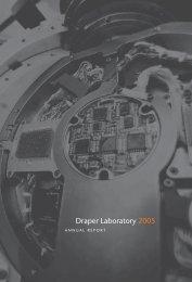 2005 Draper Laboratory Annual Report