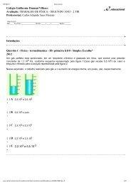 SEGUNDO ANO - 2 TRI Professor(a): Carlos Eduardo Saes More