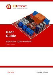 IQsocket IQSB-GSM900 User Manual v1.0 rev3 - Elnu.se