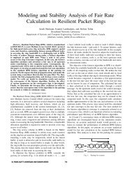Modeling and Stability Analysis of Fair Rate Calculation ... - CiteSeerX