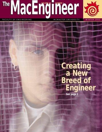 MacEngineer Jan. 2003 - Faculty of Engineering - McMaster University