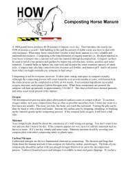 Composting Horse Manure - Maryland Department of Agriculture