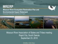 MRERP update - Missouri River Association of States and Tribes