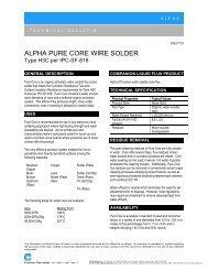 ALPHA PURE CORE WIRE SOLDER