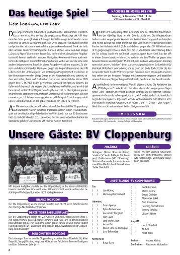 VfR Nr. 271.indd - www.VfR-Forum.de