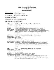 State Properties Review Board 5/6/2013 Meeting Agenda