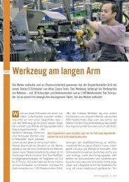 Werkzeug am langen Arm - Maschine + Werkzeug