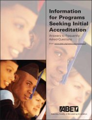 Information for Programs Seeking Initial Accreditation (PDF) - ABET