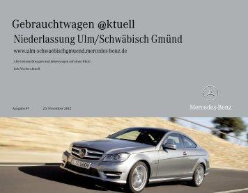 Gebrauchtwagen @ktuell - Mercedes-Benz Niederlassung Ulm ...
