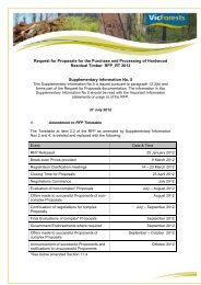 Request for Proposals for the Purchase and Processing ... - VicForests