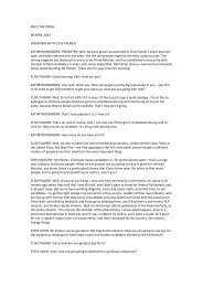 MEET THE PRESS 28 APRIL 2013 INTERVIEW WITH CLIVE ...