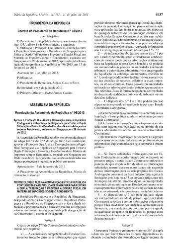 Resolução da Assembleia da República n.º 96/2013