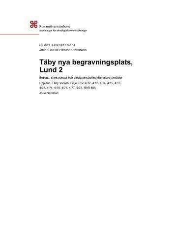 UV Mitt Rapport 2008:34 - arkeologiuv.se