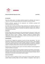 External Verification Report for Team June 2012 ... - The Prince's Trust