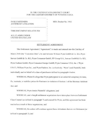 Settlement Agreement And Release Of Claims This