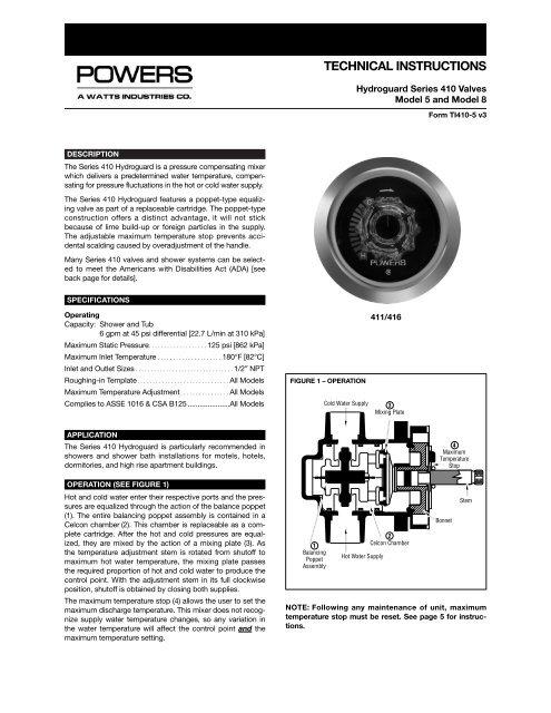 POWERS 410-378 Stem Replacement Kit