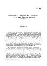 """Inventaire de l'enquête """"Paul Bouffier"""""""
