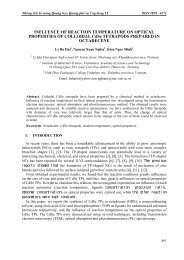 INFLUENCE OF REACTION TEMPERATURE ON OPTICAL ...