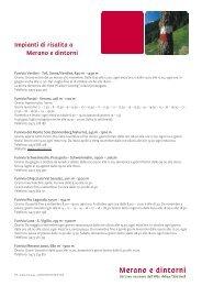 Impianti di risalita a Merano e dintorni - Meraner Land