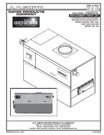 ao smith hot water heater manual