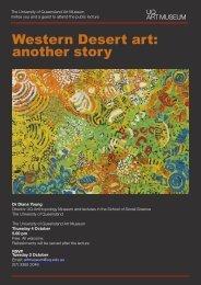 Western Desert art: another story - School of Social Science