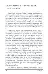 The Yin Dynamic in Cummings' Poetry - Gvsu