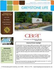 REMINDERS Greystone at Maple Ridge Staff - Greystone Properties