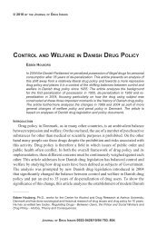 control and welfare in danish drug policy - Journal of Drug Issues