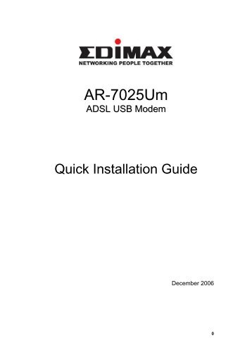 Quick Install Guide - EDIMAX Technology