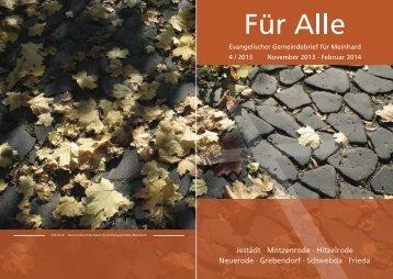 Evangelischer Gemeindebrief für Meinhard 4 / 2013 November ...