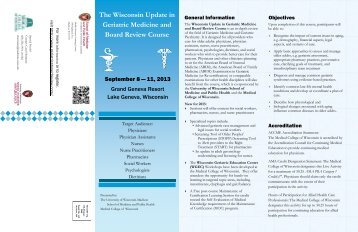 Wisconsin Update in Geriatric Medicine and Board Review Course