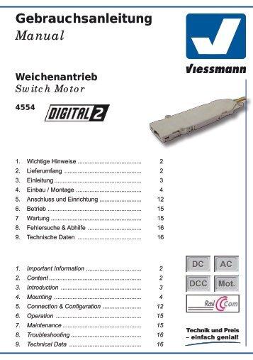 Viessmann Anleitung 4554