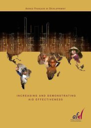 increasing and demonstrating aid effectiveness - Agence Française ...
