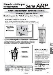Filter-Schalldämpfer für Reinraum Serie AMP