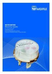 WATER METERS Measuring capsules - Wehrle