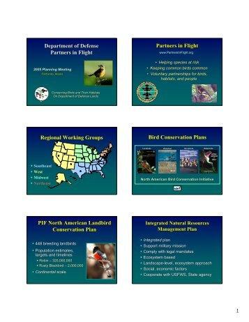 Department of Defense Partners in Flight Partners in Flight Regional ...