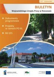 Biuletyn Wojewódzkiego Urzędu Pracy w Rzeszowie nr 7/2009