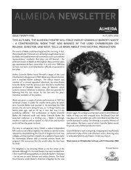 newsletter aug 08 v2.qxp - Almeida Theatre