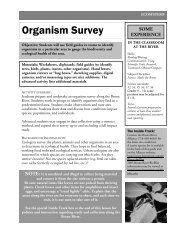 Organism Survey - Bronx River Alliance