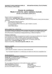 Dossier de candidature Master médiation 09 10 - Orchestre national ...