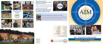 Winter 2012 - AIM Academy