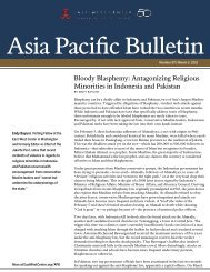 Asia Pacific Bulletin - East-West Center