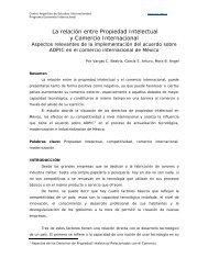 La relacin entre Propiedad Intelectual y Comercio Internacional ...