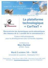 Marc Barbier - Université de Lausanne
